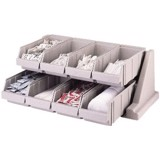 Gray Versa Self Serve Condiment Bin Stand Set