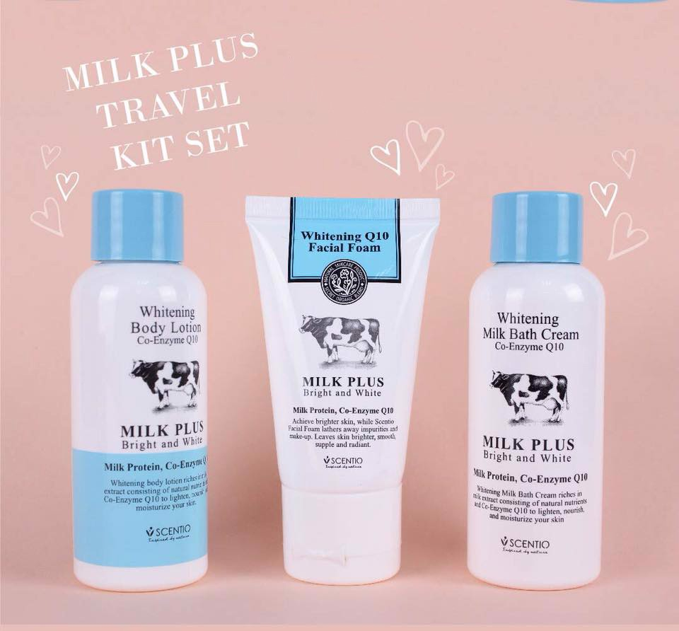 Bộ Dưỡng Trắng Da Mini Travel Kit Beauty Buffet Scentio Milk Plus Q10