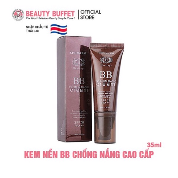 Kem nền GINO McCRAY Heritage 35ml (No.1 Light Beige, No.2 Natural Beige)