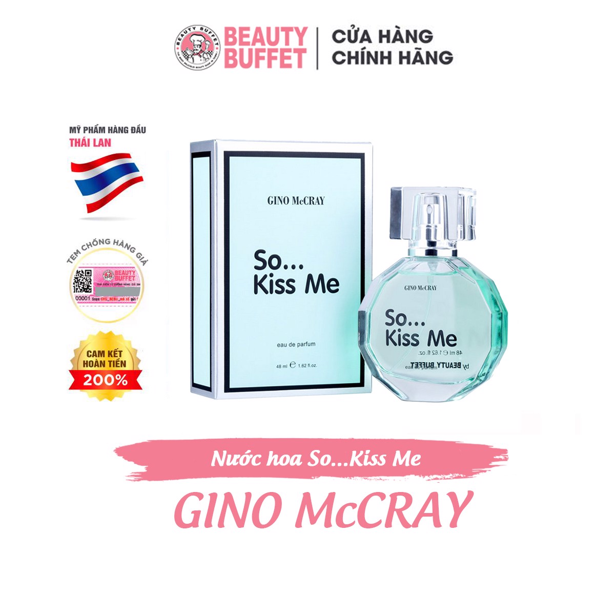 Nước hoa Beauty Buffet GINO McCRAY So...Kiss Me 48ml