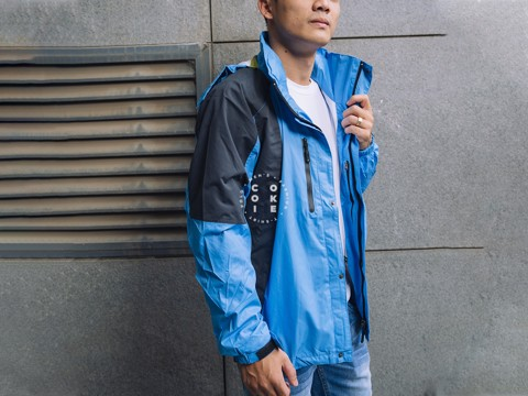 The North Face Stretch Powderflo Jacket - Blue & Gray (Men's)