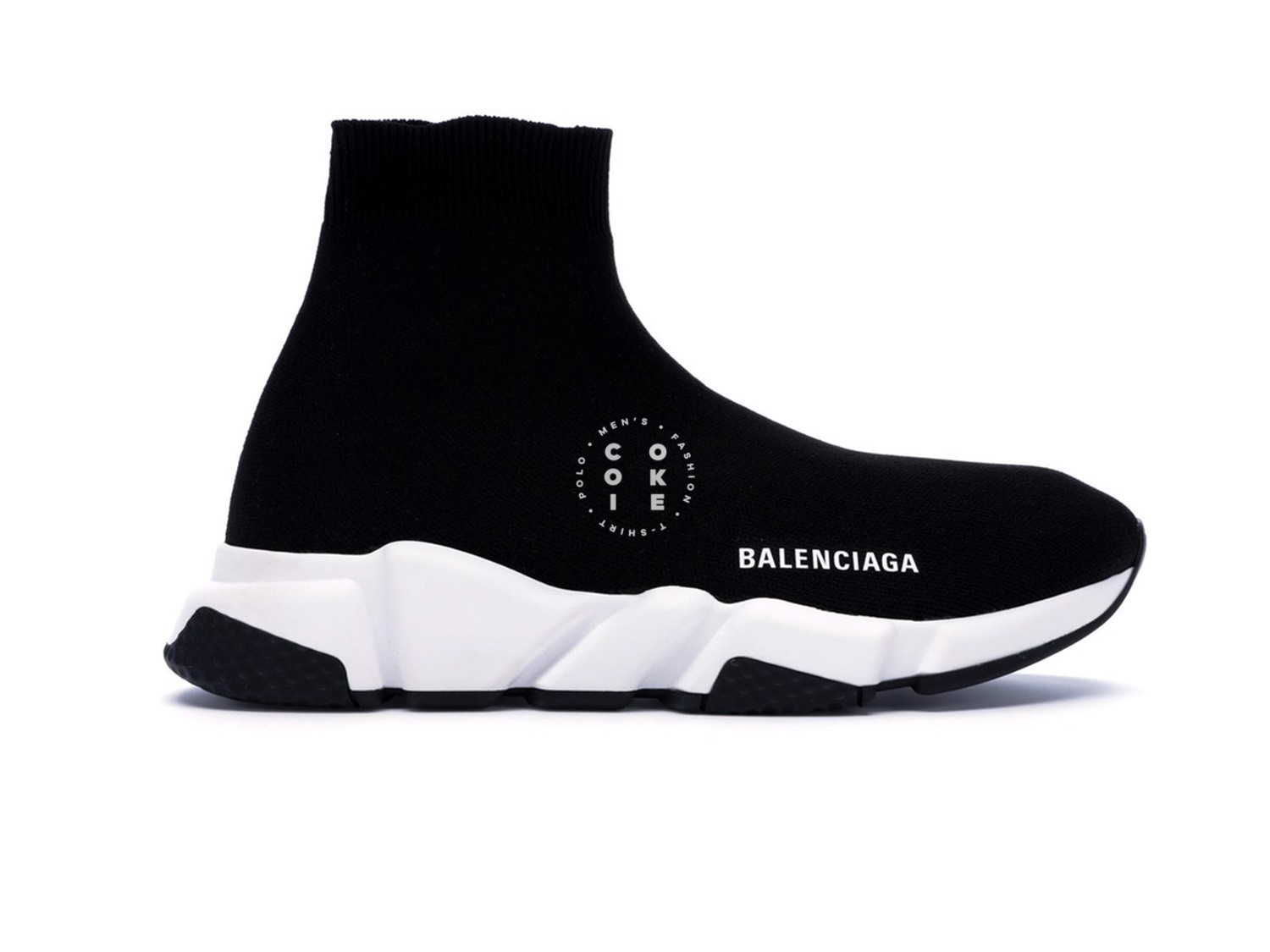 Giày Balenciaga Speed Trainer Black White (2018)