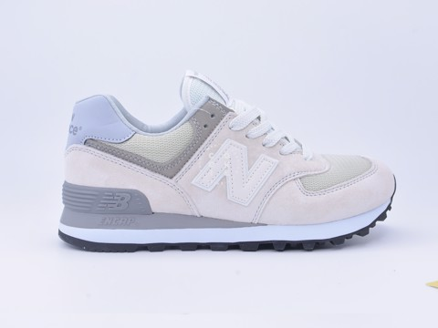 Giày New Balance 574 Light Grey Suede Trainers
