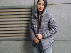 The North Face Stretch Down Jacket - Gray (Women's)