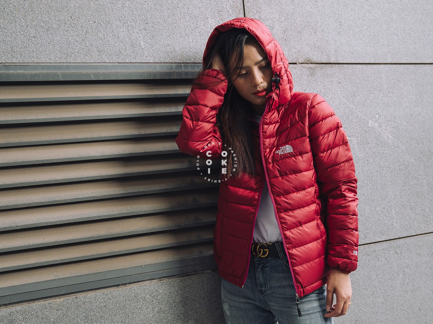 The North Face Stretch Down Jacket - Red (Women's)
