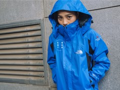 The North Face Stretch Powderflo Jacket - Blue & Black (Women's)