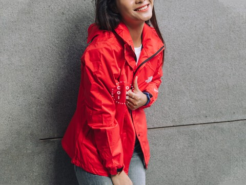 The North Face Stretch Powderflo Jacket - Cherry (Women's)