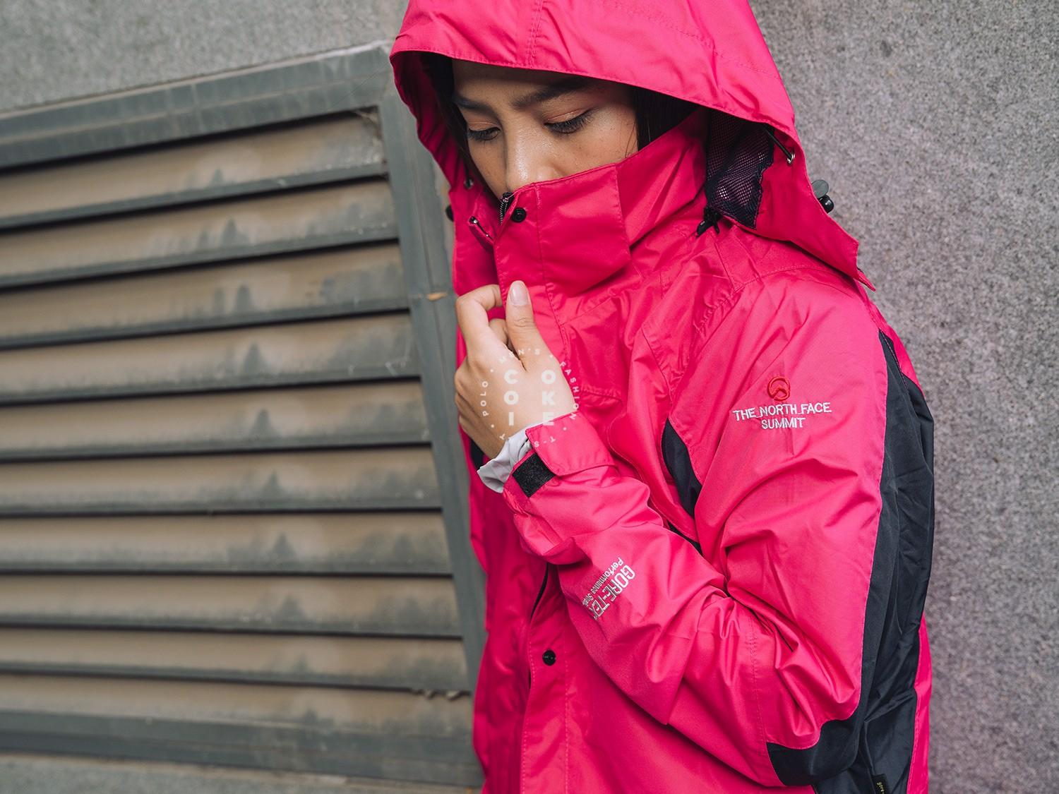 The North Face Stretch Powderflo Jacket - Pink & Black (Women's)