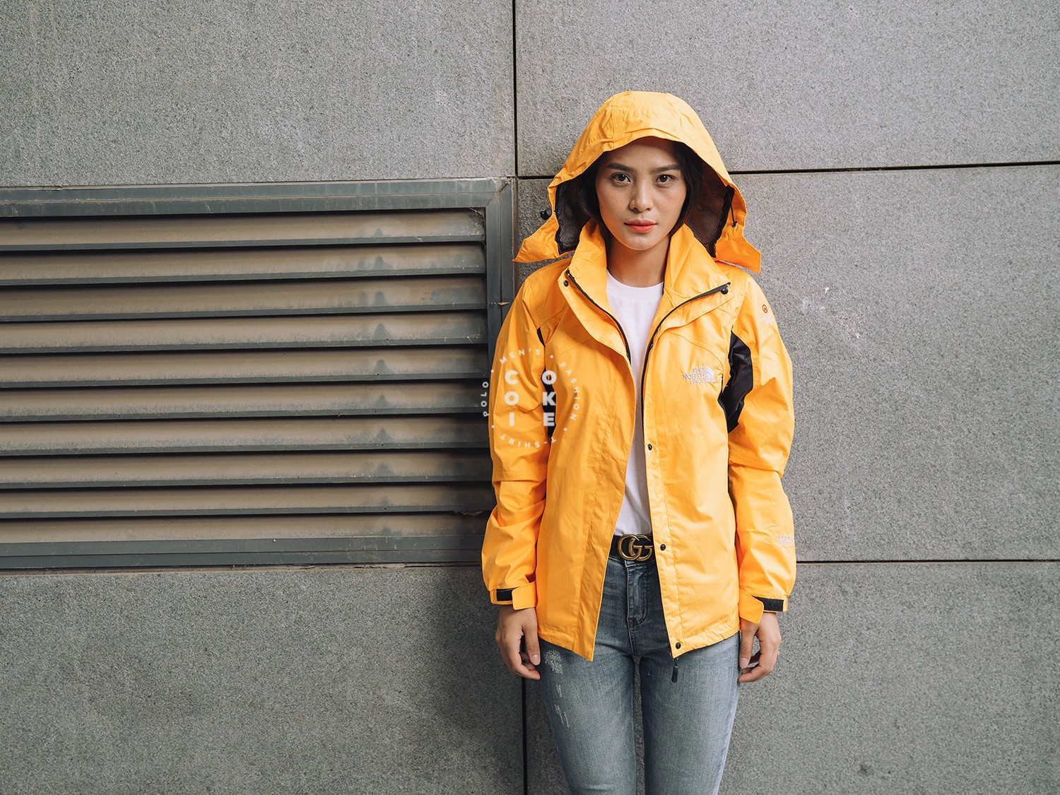 The North Face Stretch Powderflo Jacket - Sunflower & Black (Women's)