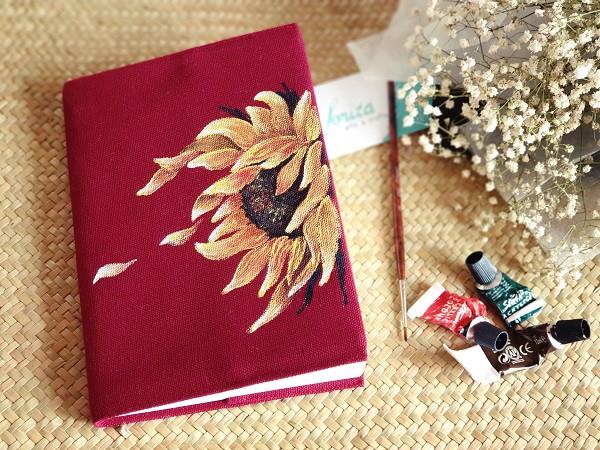 Sổ tay bọc vải forita - Hoa hướng dương rực rỡ