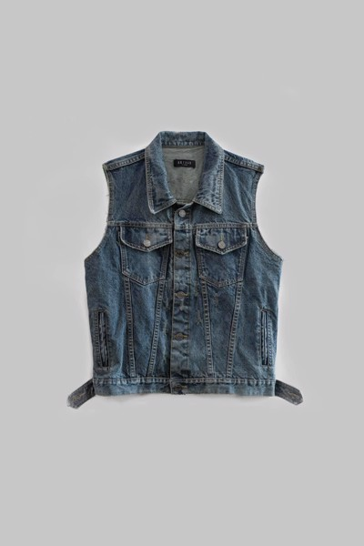 Blue Sleeveless Denim Jacket
