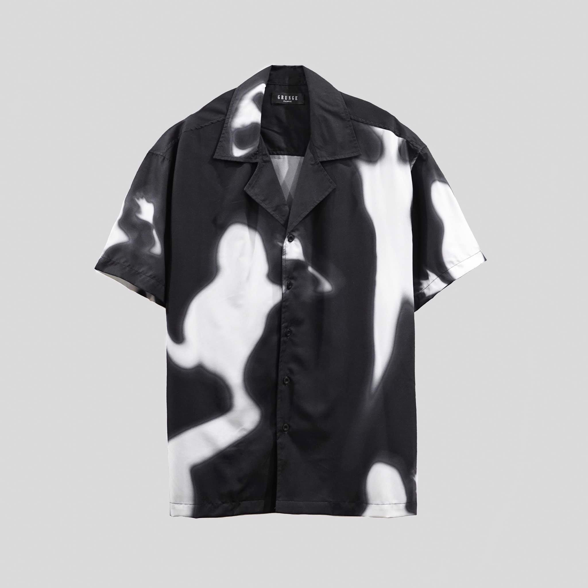 Black Shadow Cuban Shirt