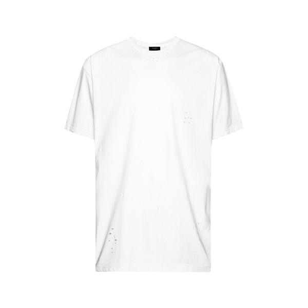 Distressed White T-Shirt