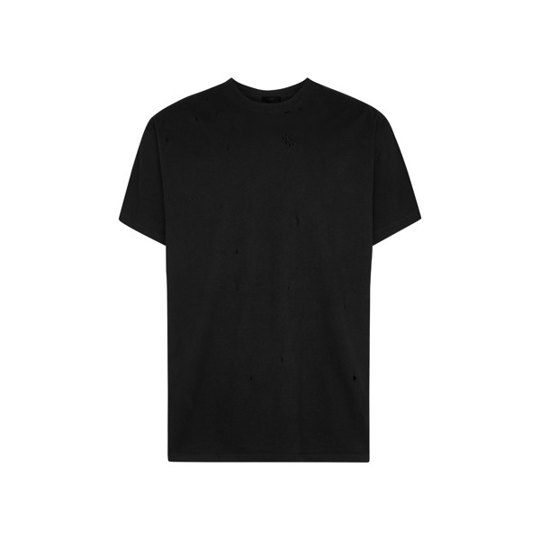 Distressed Black T-Shirt