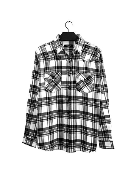 Black White Flannel