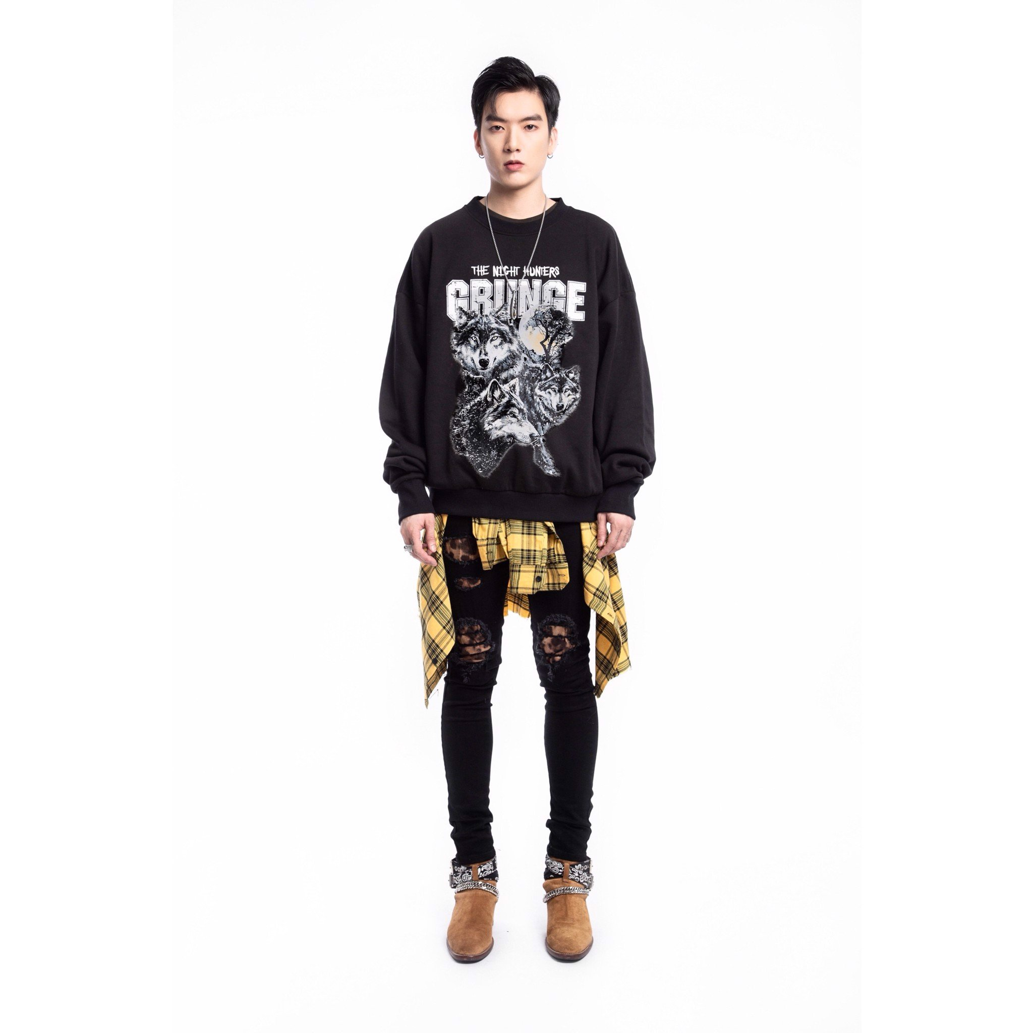 The Wolf Sweatshirt - Black