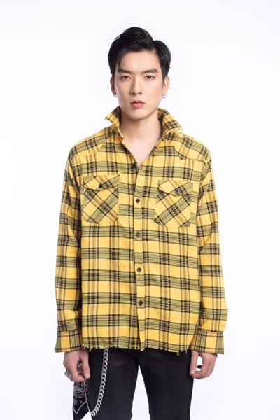 Black/Yellow Flannel Shirt