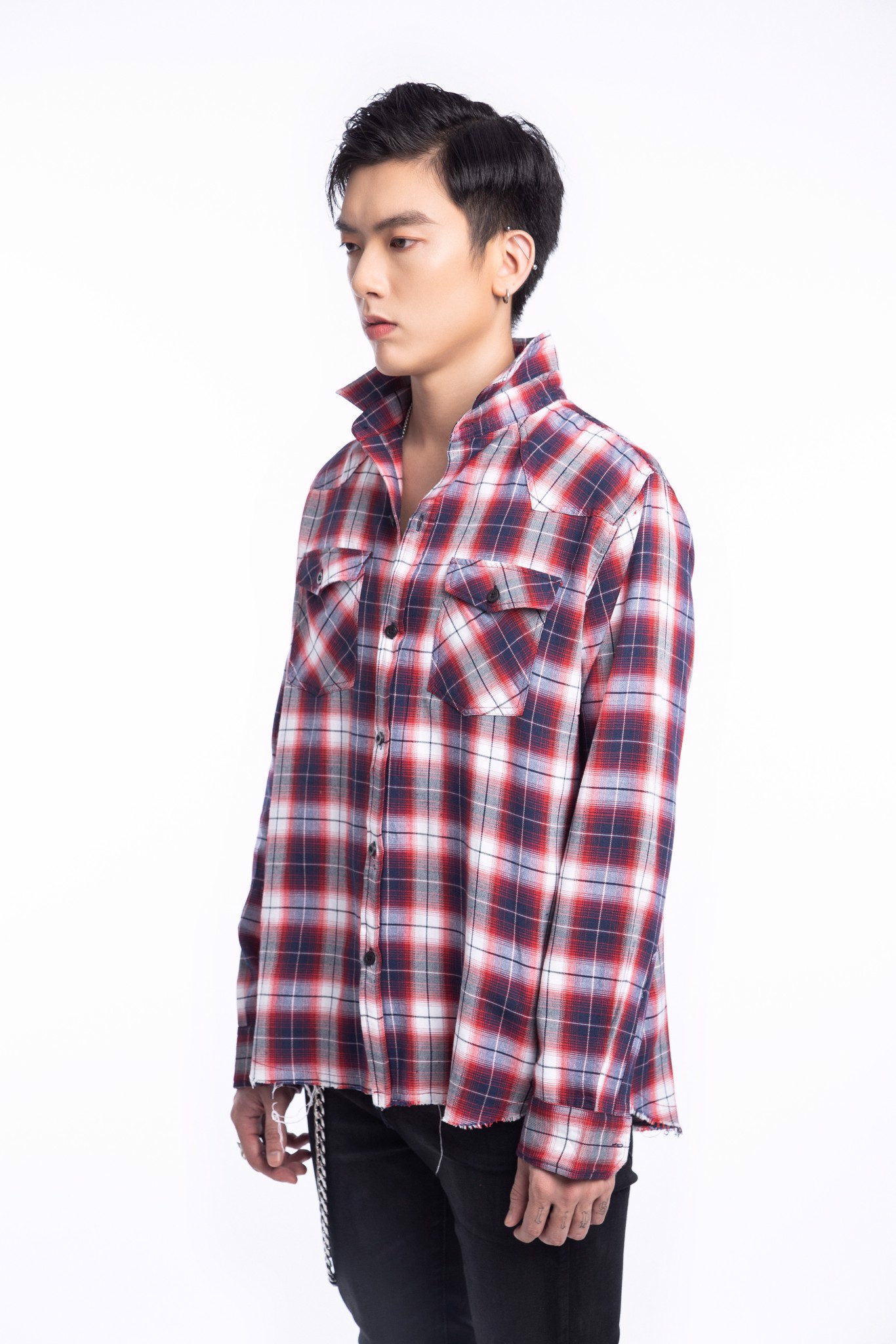 Blue/Red Flannel Shirt