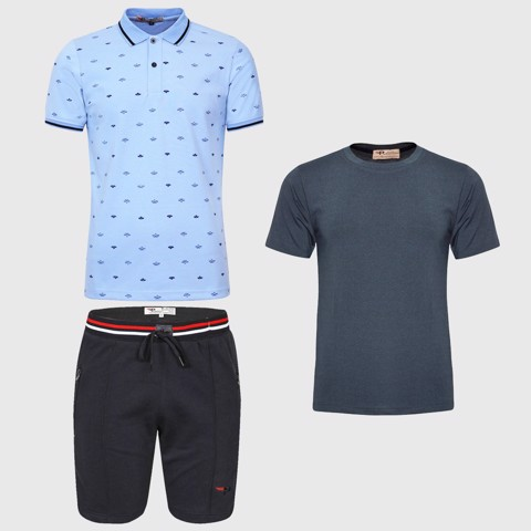 Combo áo polo quần short nam kèm áo gym Basic Men Box Flexi FLX05.1