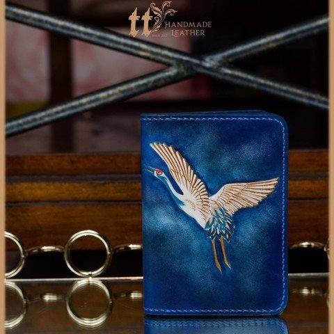 Passport Cover chạm Hạc