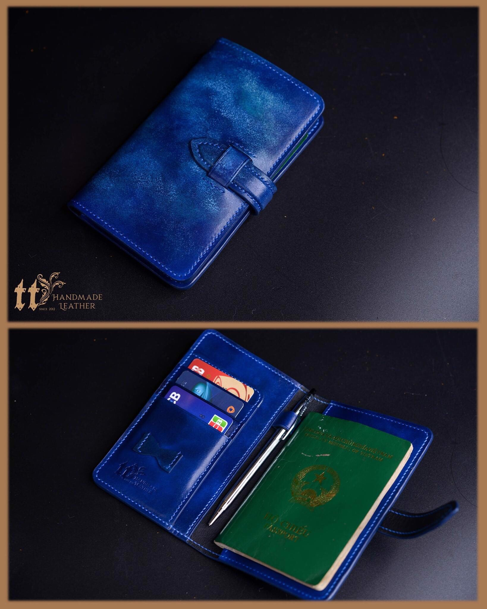 Classic Passport Cover nhuộm loang