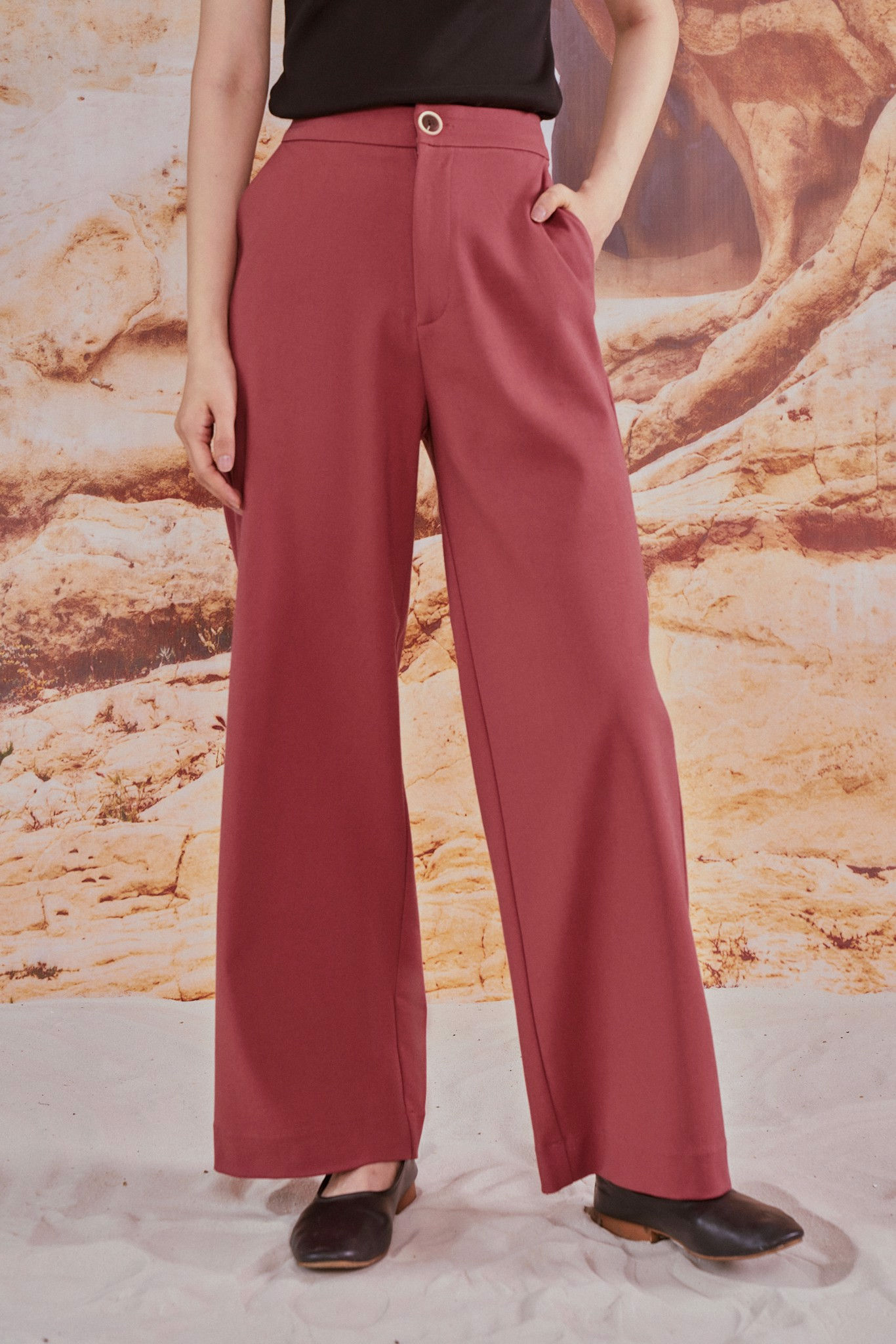Pink Straight Leg Trousers