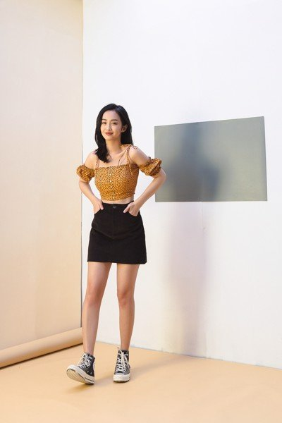 Corduroy Mini Skirt With Back Pockets