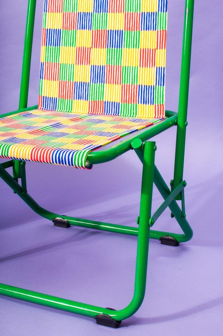 Checked Chair- Green