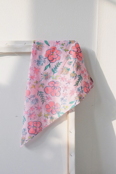 Floral Scarf - Pink