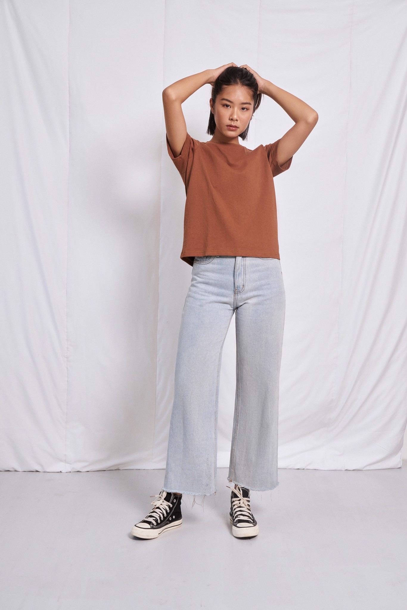 Brown Relaxed Fit  T-shirt