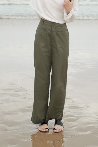 Wide Leg Trousers With Pockets