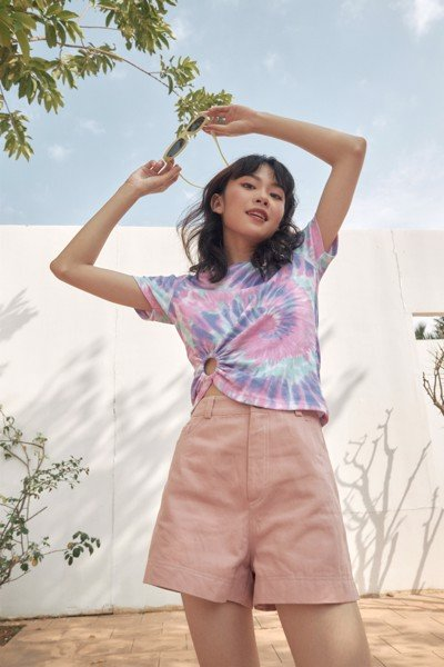 Tie Dye T-shirt With Ring