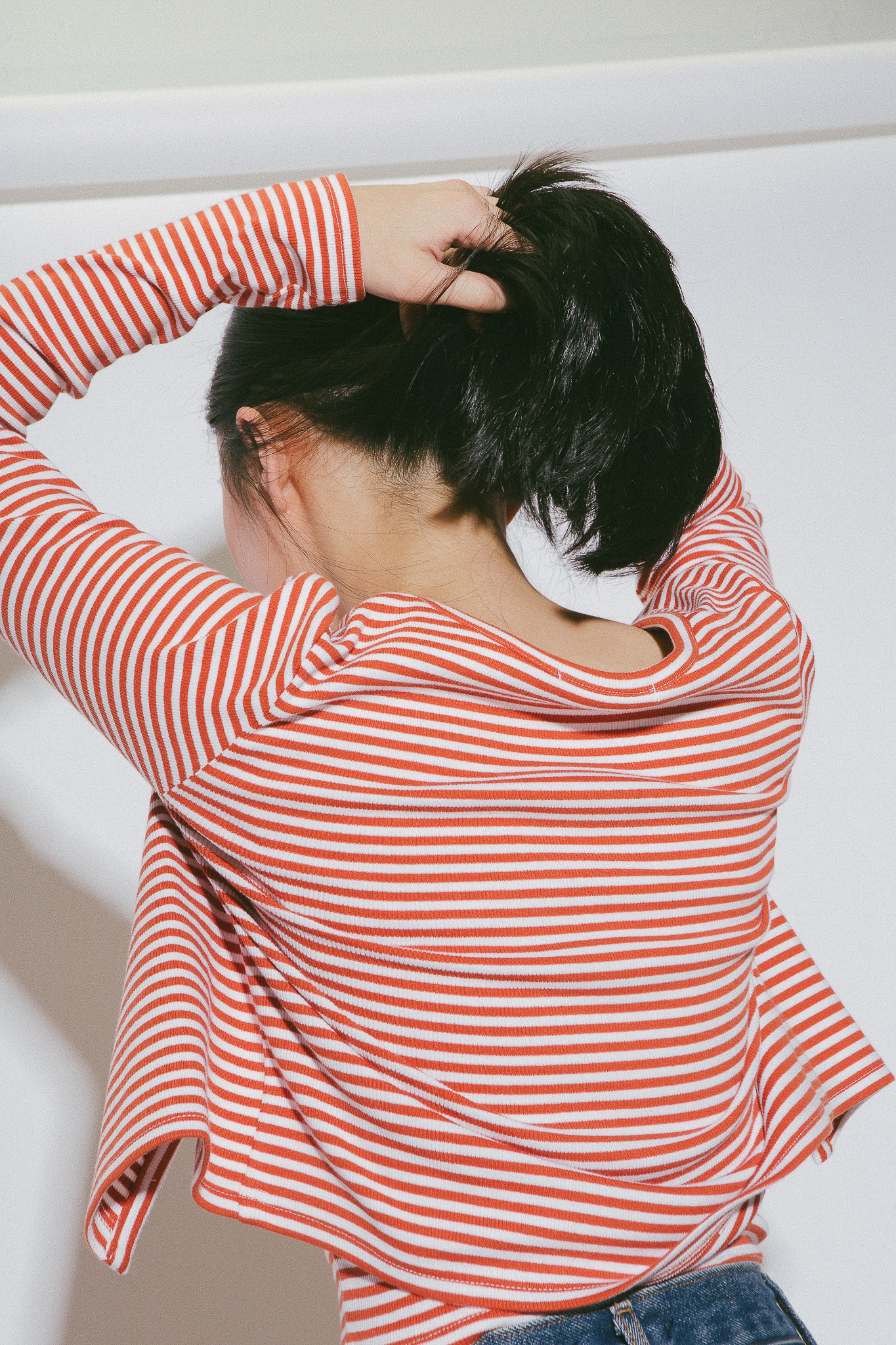 Striped Cardigan - Red