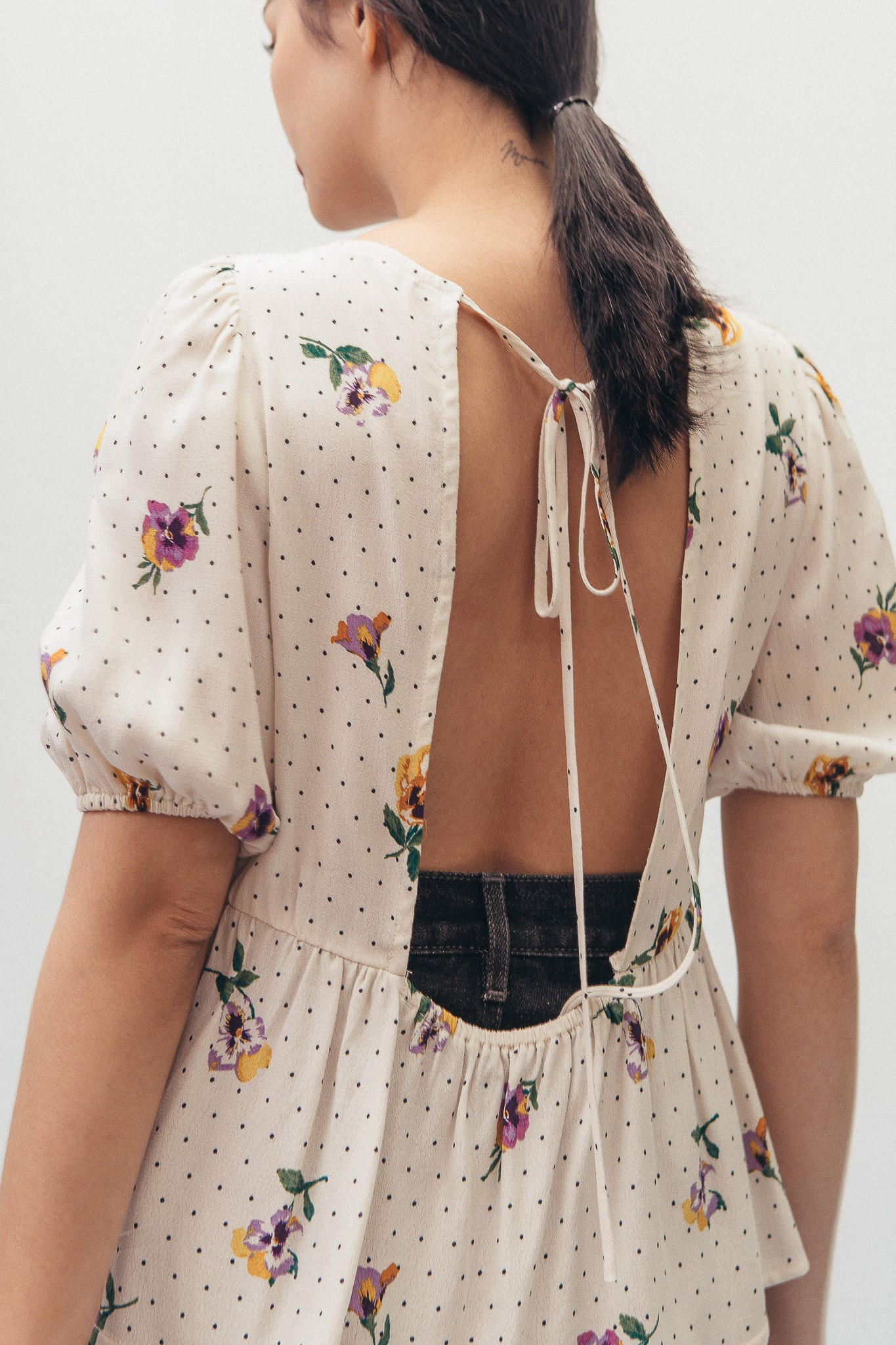 Floral Open Back Top