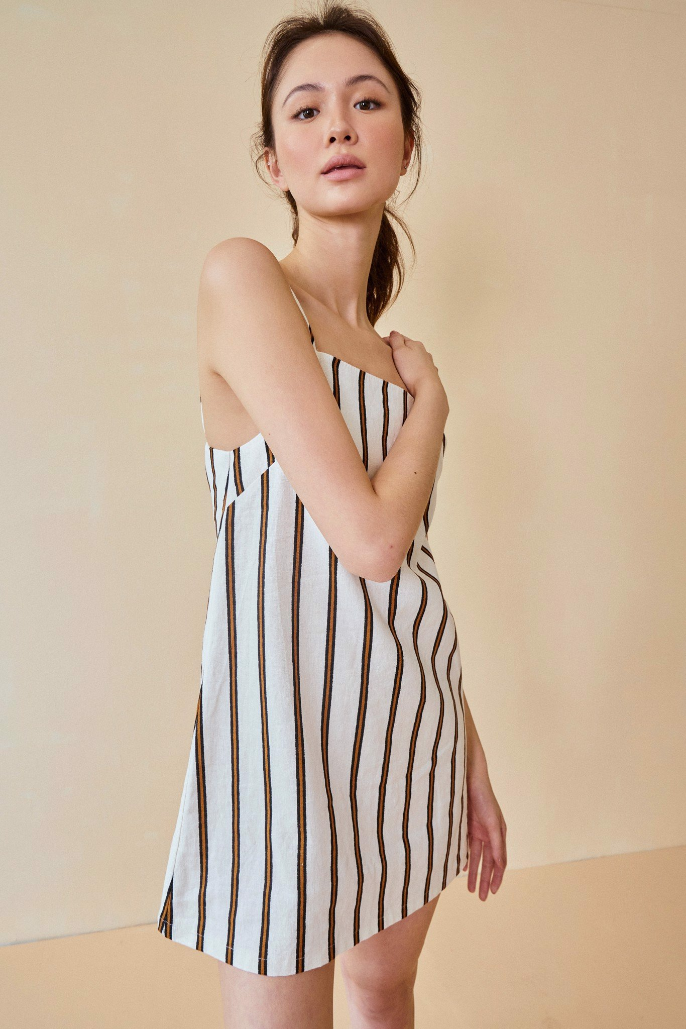 Striped Linen Cami Dress