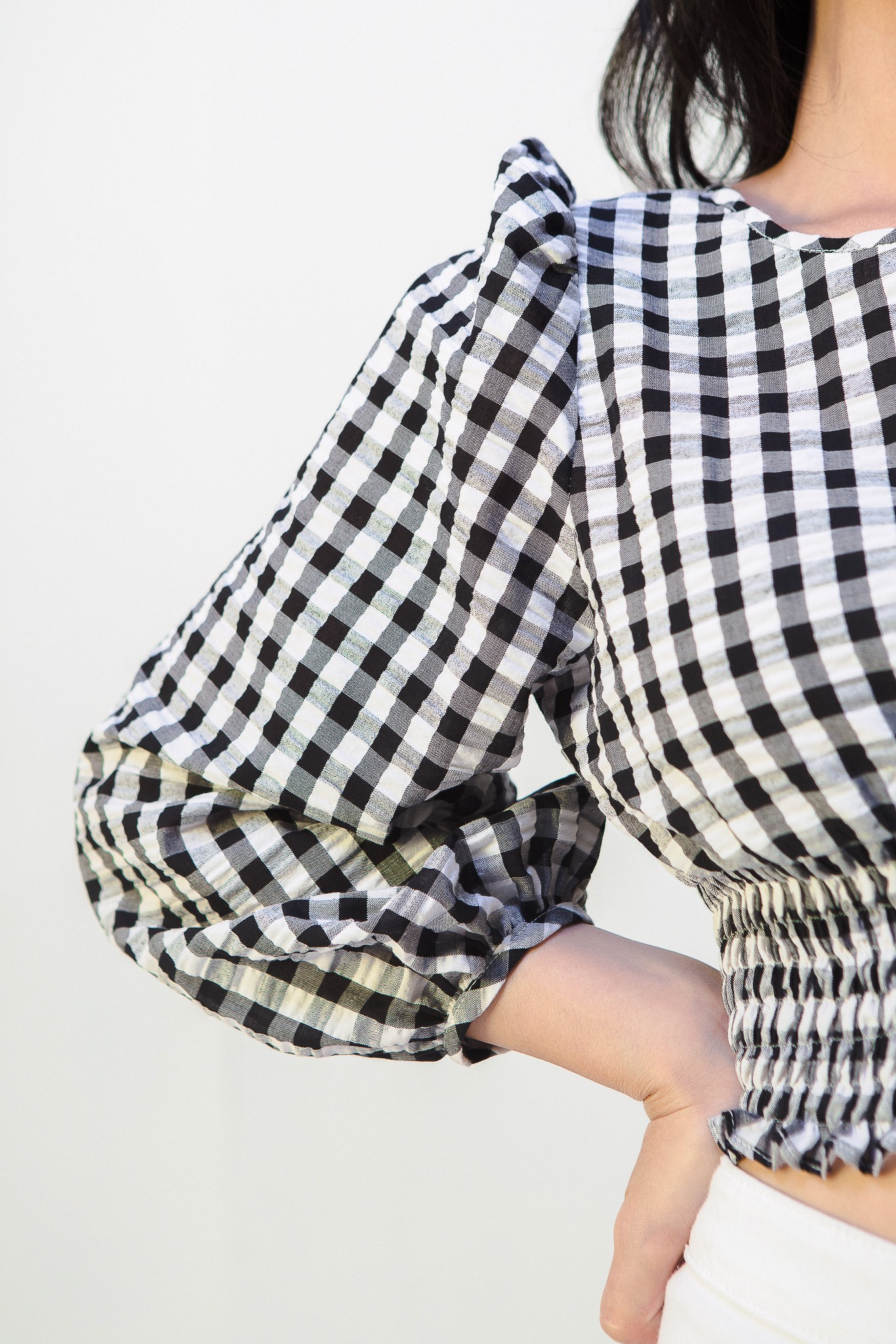 Gingham Open Back Top