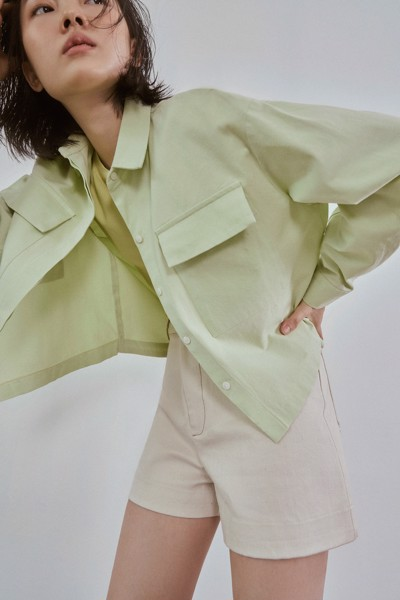 Oversized Shirt With Front Pockets