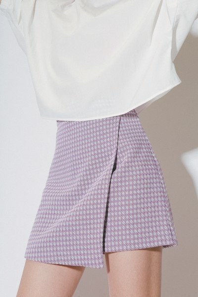 Purple Overlap Mini Skirt
