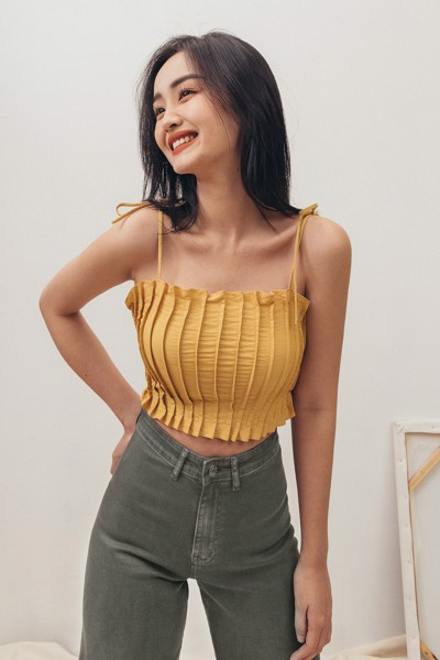 Yellow Darted Camisole