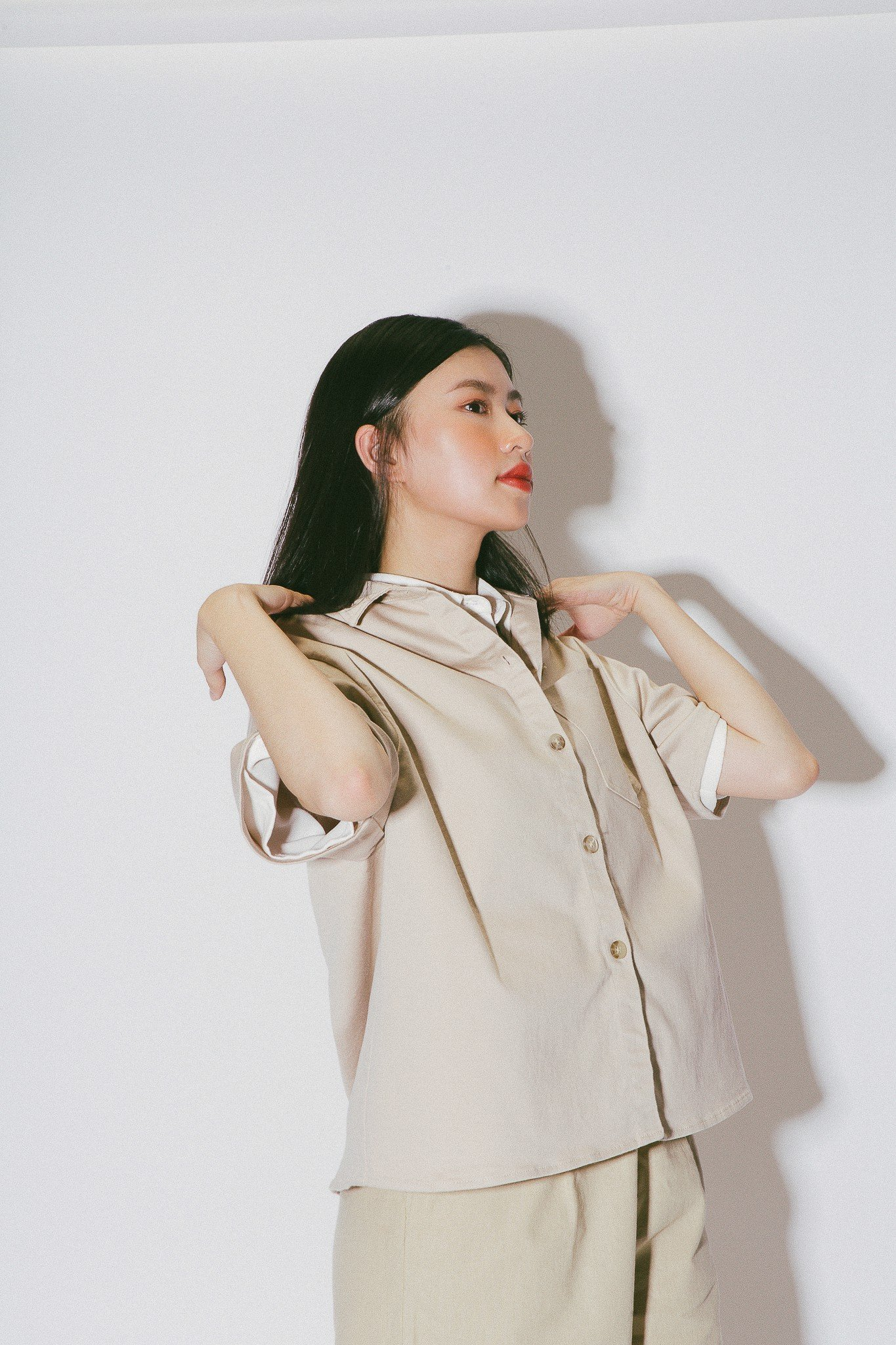 Beige Oversized Shirt