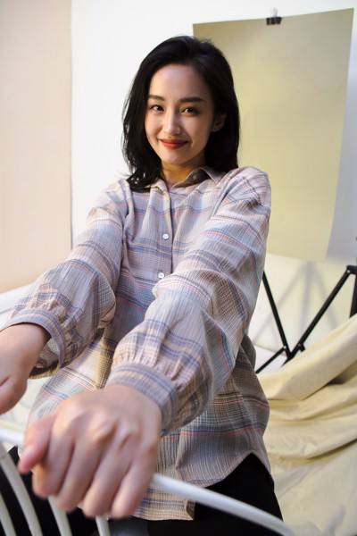 Checked Oversized Shirt - Grey