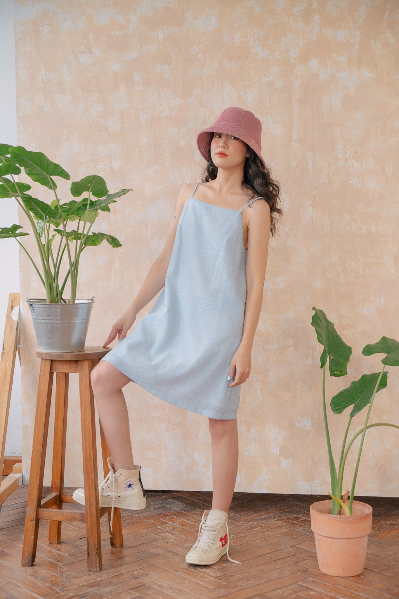 Light Blue Cami  Dress
