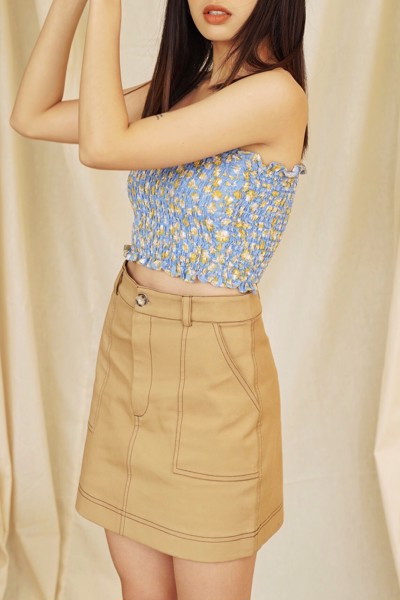 Light Brown Mini Skirt