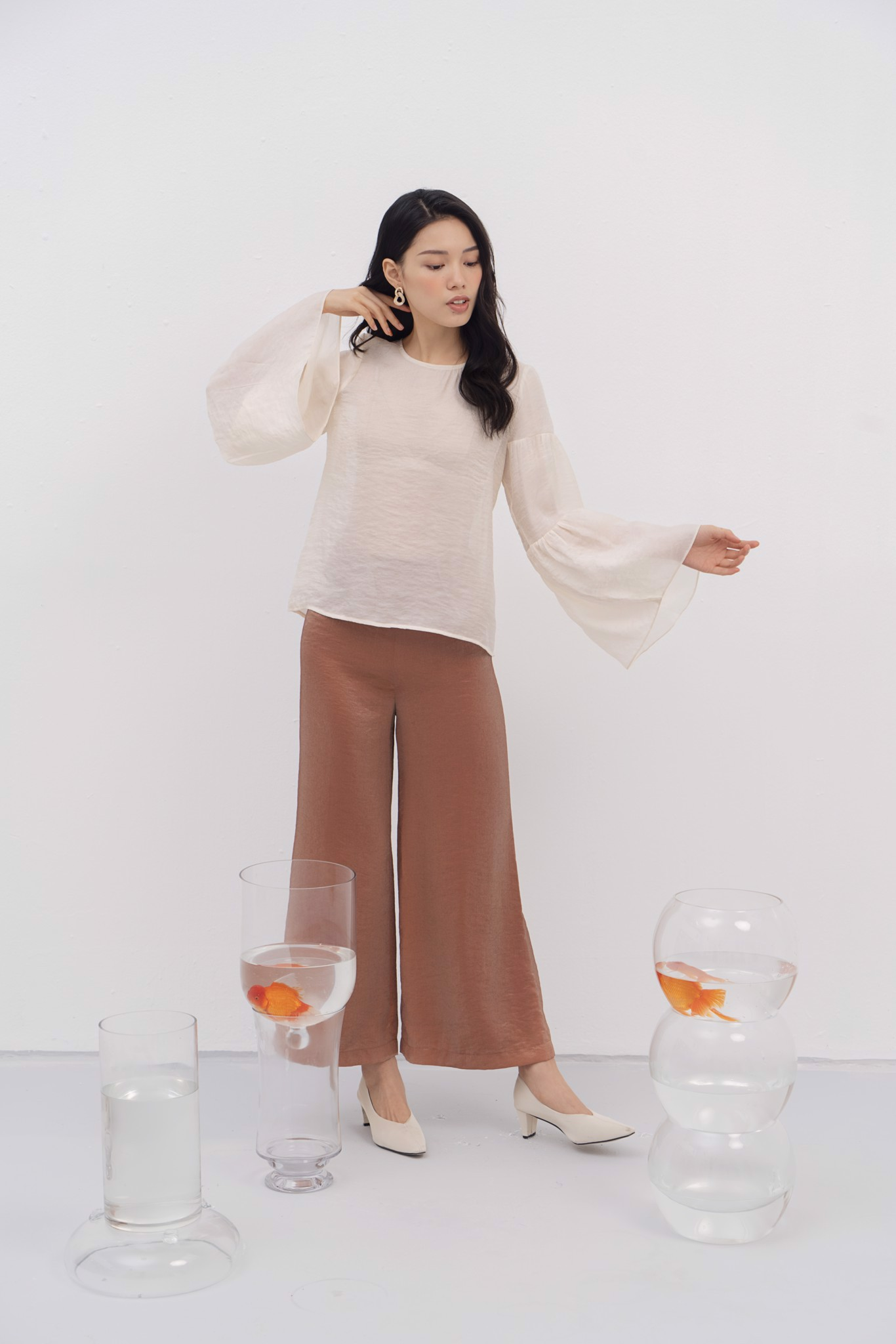 Orange Organza Trousers