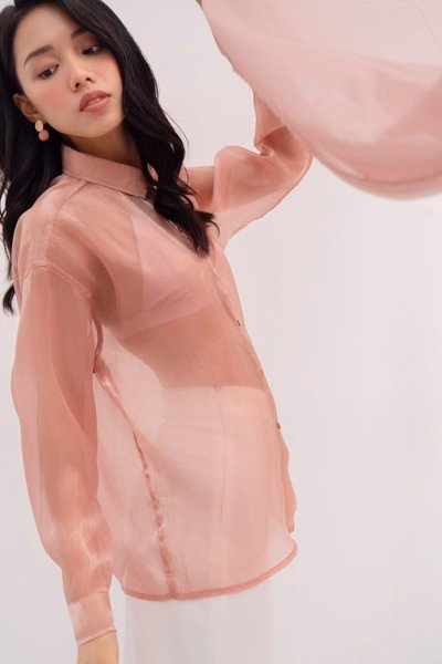 Peach Organza Shirt