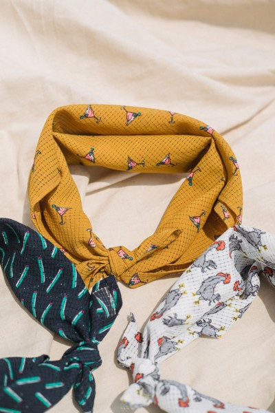 Yellow Squared Scarf