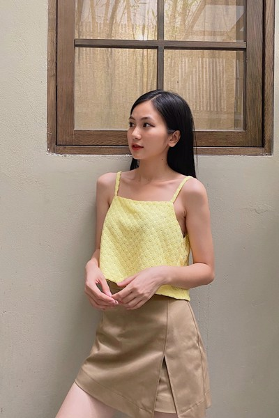 Yellow Crochet Camisole