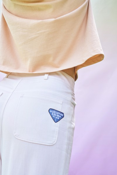 White Libération Trousers With Pockets