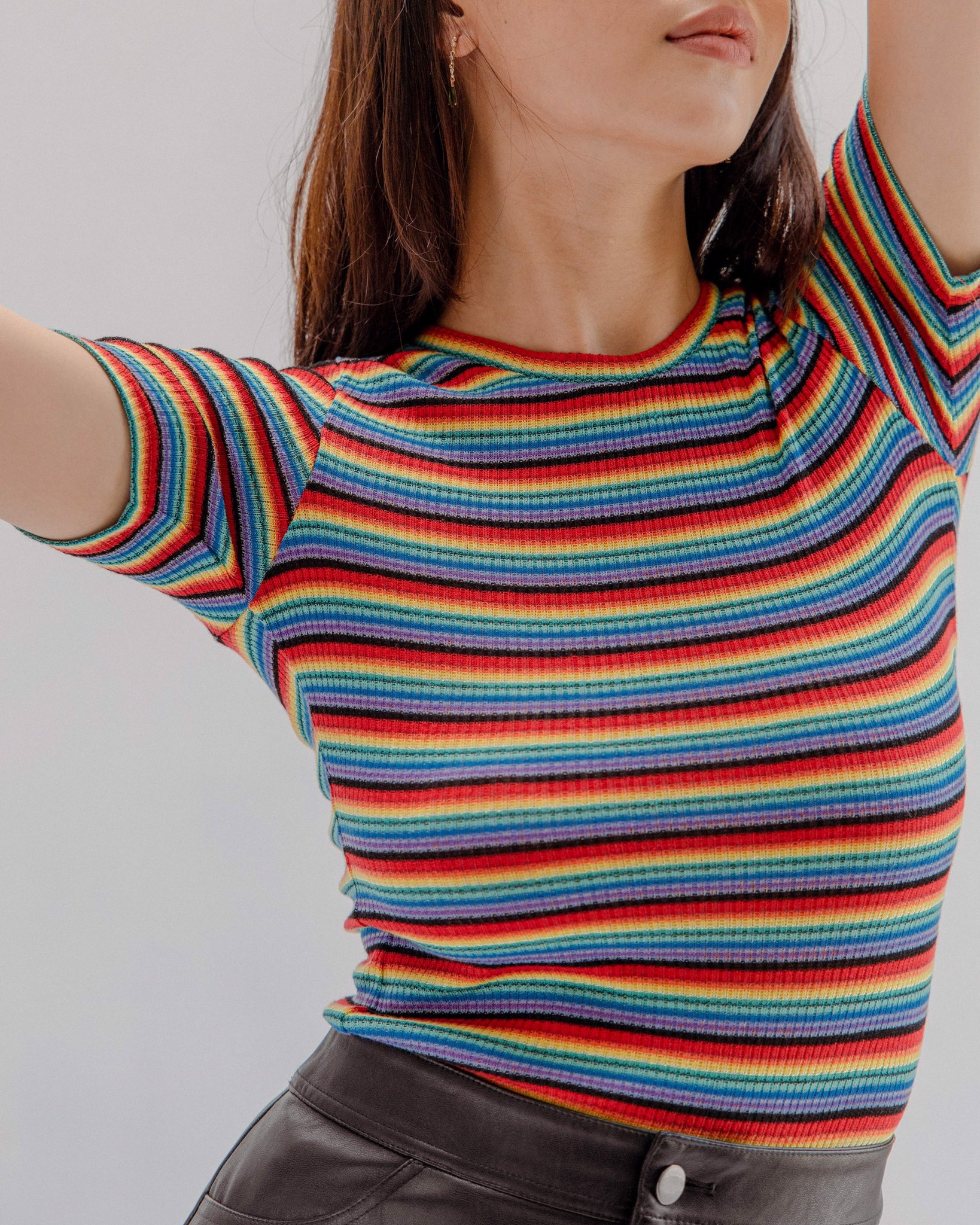 Multicolored Fitted T-Shirt