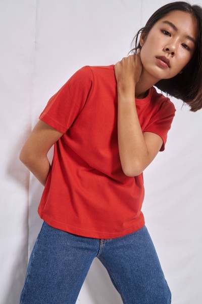 Red Relaxed Fit   T-shirt